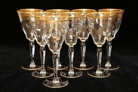 gold rim crystal water glasses gold