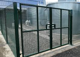 Double Swing Gate Custom Carbon Steel Fence For Sale
