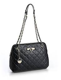dkny quilted leather bag ส