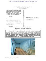 Family of Daniel McCoy vs. Williamson County | Lawsuit | Pleading