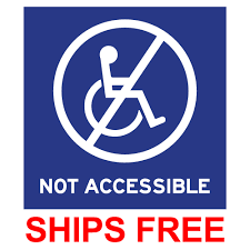 Window Decals Not Accessible Symbol 6x6 Stopsignsandmore Com
