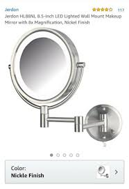 lighted wall mount makeup mirror