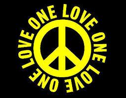 One Love Peace Vinyl Decal 6x6 Yellow Peace Love Harmony Joy Auto Truck Car Ebay