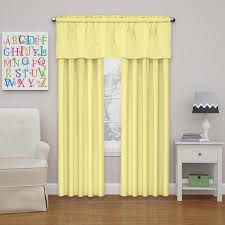 Eclipse Kids Microfiber Blackout Window Valance In Yellow 42 In W X 18 In L 15503042x018yel The Home Depot