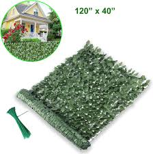120 X 40 Forest Green Lovelydecor Artificial Privacy Fence Screen Faux Ivy Leaf Privacy Screen Artificial Hedge For Outdoor Indoor Decor Garden Backyard Patio Deck Balcony Decoration Decorative Fences Patio Lawn