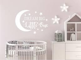 Dream Big Little One Decal Nursery Wall Sticker Boys Girls Etsy