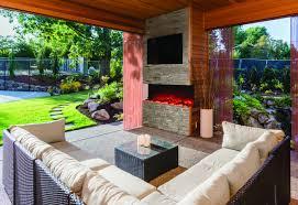backyard by adding an outdoor fireplace