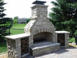 outdoor patio fireplace plans ideas