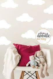Large Cloud Wall Stickers White Decal Black Cloud Home Decor Children S Cloud Wall Art Pink Blue Grey Black White Vinyl Sticker Clouds Nursery White Vinyl Sticker Wall Stickers