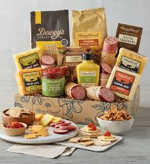 deluxe gourmet sausage and cheese gift