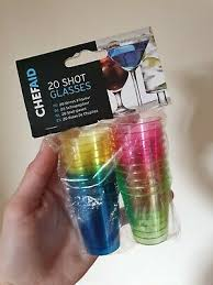 pack of 20 plastic shot glasses brand