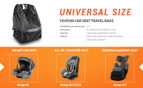 com yoofan car seat travel bag