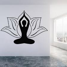 Zen Flower Lotus Wall Stickers For Bedroom Yoga Pose Meditation Room Vinyl Wall Decal Kitchen Decor Nordic Home Decoration Owl Wall Stickers Peelable Wall Decals From Joystickers 12 06 Dhgate Com