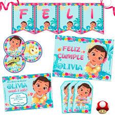 Tukitimprimible Kit Moana Bebe Impreso Invitaciones Stickers