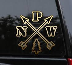 Pnw Pacific Northwest Compass Decal