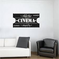 Cinema Ticket Decal Wall Mural Decals Decal Wall Art Wall Decals