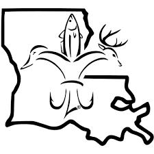 Louisiana Sportsman State Decal Deer Duck Fish Hook Fleur De Lis Sportsman Gear