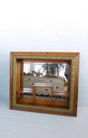 vintage ornate frame mirror shadow box