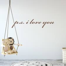 P S I Love You Wall Decal Quote