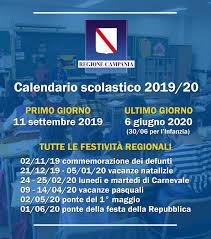 Anno scolastico 2019/2020, date e festività in Campania