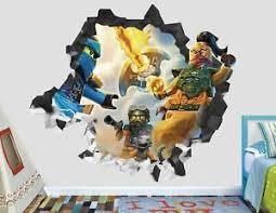 Battle Lego Ninjago Movie Custom Wall Decals 3d Wall Stickers Art Ah104 Ebay