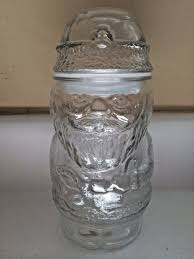 clear glass jar snowman shape with lid