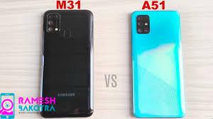 Samsung Galaxy M31 vs A51 SpeedTest and Camera Comparison - YouTube