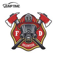 Jump Time 13cm X 10 5cm For Firefighter Volunteer Maltese Cross Fire Car Window Decal Laptop Vinyl Sticker Car Accessories Decor Car Stickers Aliexpress