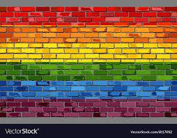 pride flag on a brick wall royalty