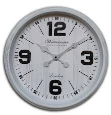 westminster 16 wall clock white at