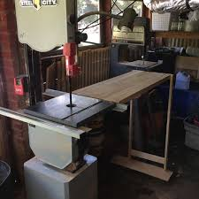 Folding Outfeed Table For My Bandsaw The Literary Workshop Blog
