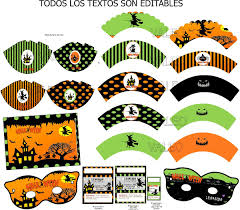 Kit Imprimible Halloween Dia De Brujas Invitaciones 2 200 En