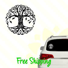 Tree Of Life Vinyl Decal Window Sticker Leaves Strong Grow Etsy