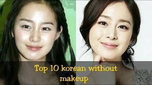top 10 korean actress without makeup