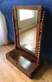 a mahogany veneer on oak dressing table