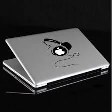 Buy Dj Headphones Vinyl Decal Sticker Skin For Macbook Air Pro Bazaargadgets Com