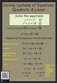 equations solving quadratic linear