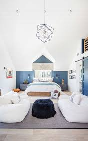 Modern Beach House Kids Bedroom Middle Patterson Custom Homes