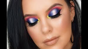spring makeup tutorial 2019 colorful