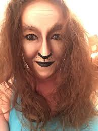 day 19 cowardly lion makeup cosplay