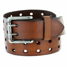 custom leather belt with double hole