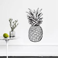 Pineapple Wall Stickers Fruit Kitchen Wall Decorative Stickers Creative Vinyl Wall Decals Design Wall Transfer Quotes Wall Transfer Stickers From Moderndecal 10 86 Dhgate Com