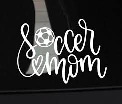 Soccer Mom Decal Decal For Soccer Mom Sports Mom Decal Etsy In 2020 Soccer Mom Decal Soccer Mom Car Monogram Decal