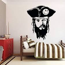 Amazon Com Pirate Wall Decals For Boys Room Pirate Ship Jolly Roger Map Crossbones Pirate Decorations For Home Nursery Room Pirate Door Stickers Pi060 Home Kitchen