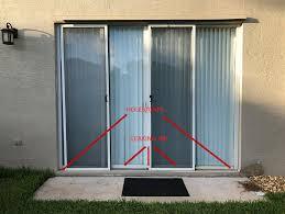 big gaps under sliding door are these