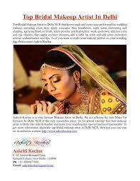 ppt top bridal makeup artist in delhi