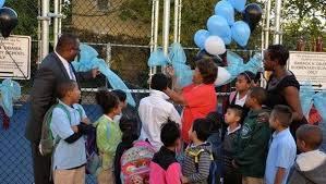 Barack H. Obama Elementary School gets new playground