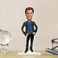 personalized gentleman caricature gift