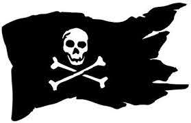 Amazon Com Home Grown Claremore Pirate Flag Black Pearl Die Cut Decal 5 5 W X 3 5 W Black Hgc1058 Clothing