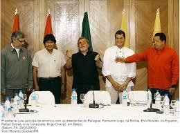 Presidente Lula participa de encontro com os presidentes do Paraguai, Fernando Lugo, da Bolívia, Evo Morales, do Equador, Rafael Correa, e da Venezuela, Hugo Chávez, em Belém.jpg — Biblioteca